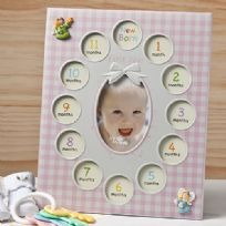 Baby Girls First Year Collage Photo Frame